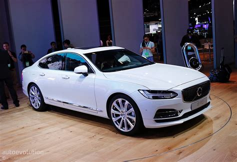 volvo cars volvo launches its s90 flagship sedan at 2016 detroit auto