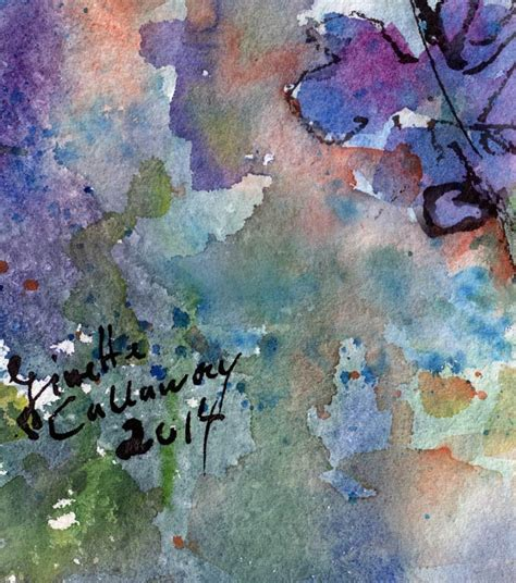 Watercolor Painting On Handmade Paper - lupines original watercolor and ink on handmade paper