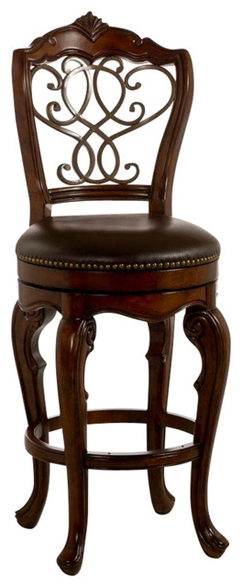 27 Inch Bar Stools Hillsdale Burrell 27 Inch Swivel Counter Stool In Cherry