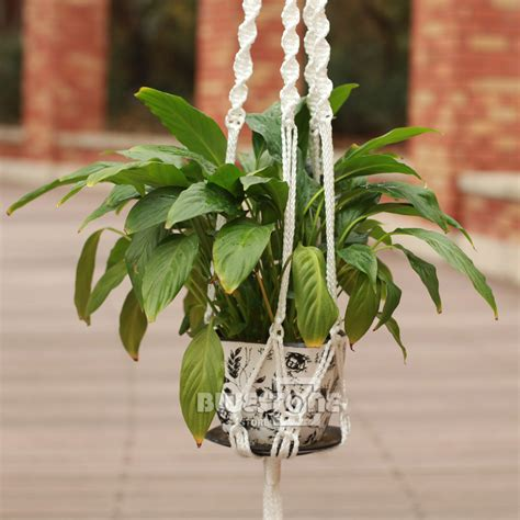 Rope For Hanging Plants - jute 4 leg rope cord macrame plant hanger pot holder