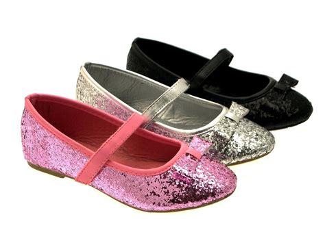children shoes for childrens glitter ballet pumps