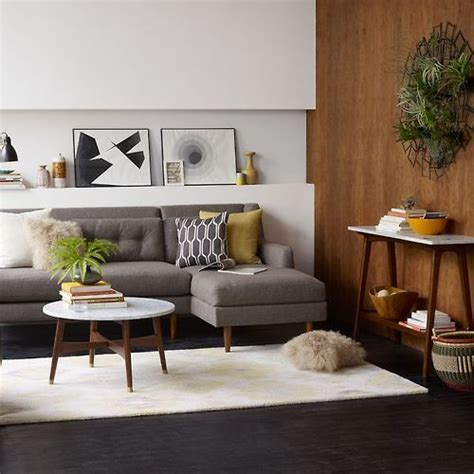 Living Room Marble Tables by Mcm Styled Living Room Grey Sectional Coffee Table