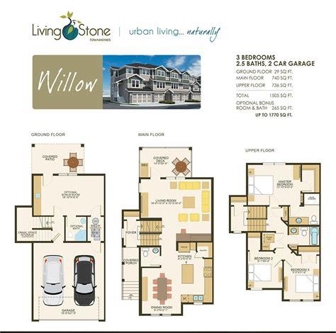 willow floor plan floor plans living townhomes