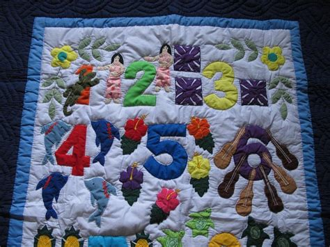 Hawaiian Baby Quilt by Hawaiian Style Quilt Baby Crib Blanket Quilted Wall
