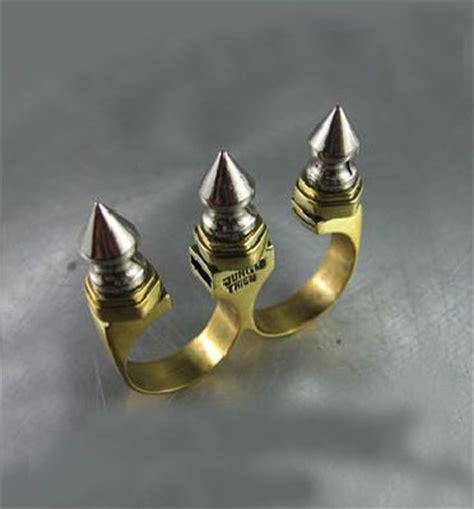 Cincin Knuckle Spike Ring Self Defense Edc Tactical Pemecah Kaca Mob the world s catalog of ideas