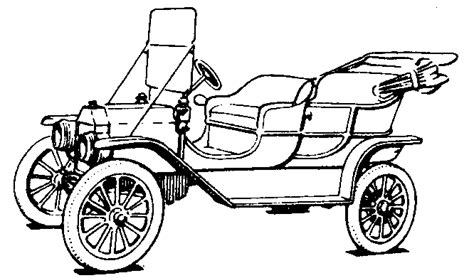 coloring page of model t car model t ford forum kid s drawings