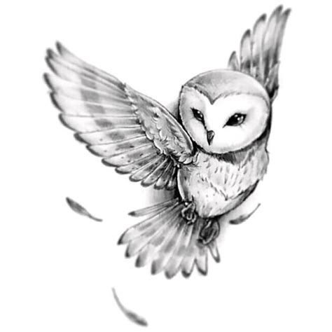 wise owl tattoo designs barn owl design
