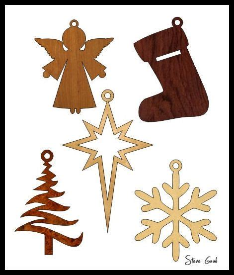 wood pattern christmas scrollsaw workshop five simple christmas ornament scroll