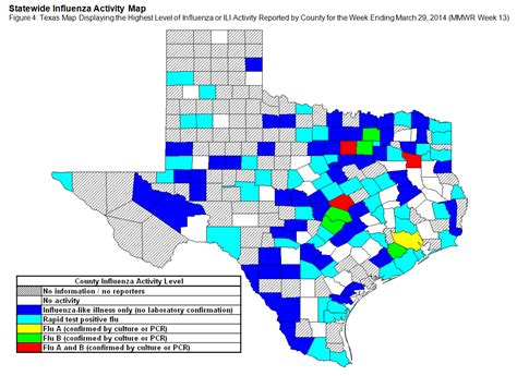 texas flu map 2013 2014 texas influenza surveillance information current flu activity report