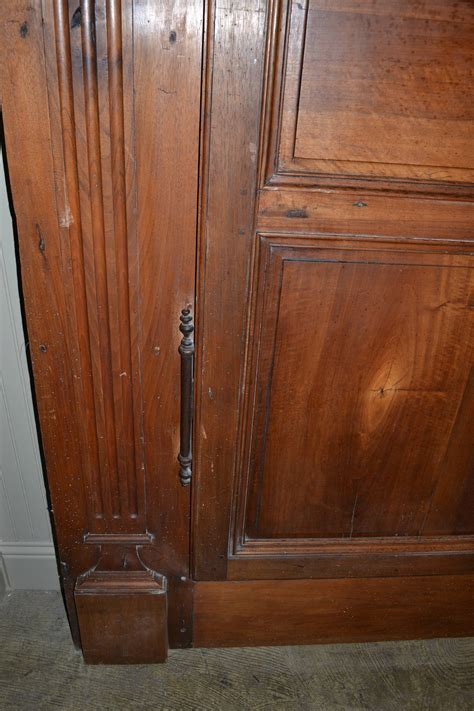 Antique Armoire Hardware by Antique Walnut Armoire Doors With Original Frame