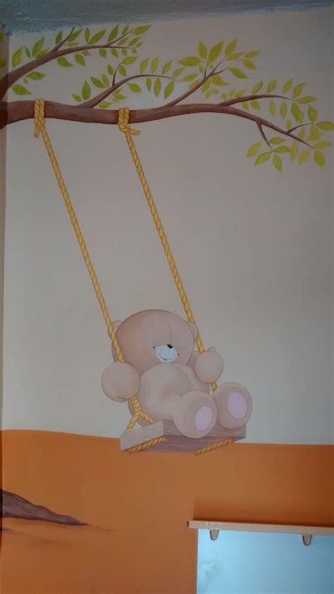 ositos para decorar habitacion bebe cuarto de bebes columpio con ositos y arbol figuras de