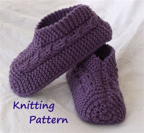 knitted slipper pattern kweenbee and me learn to knit slippers with these patterns