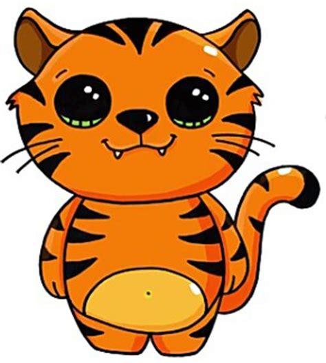 Imagenes De Tigres Kawaii   tigres clipart kawaii pencil and in color tigres clipart