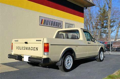 volkswagen rabbit truck 1982 1982 volkswagen rabbit truck turbo diesel german cars