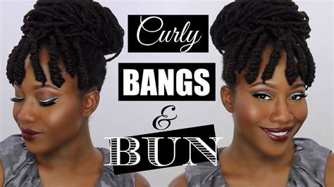 loc style tutorial 8 faux bangs styles youtube bang with dreadlocks tutorial curly bangs bun on natural