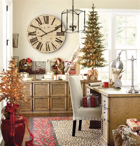 home decor christmas ideas stylish home office christmas decoration ideas and