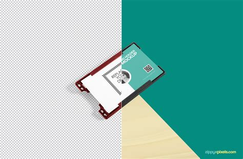 R280 Id Card Tray Template Psd by Free Id Card Holder Mockup Zippypixels