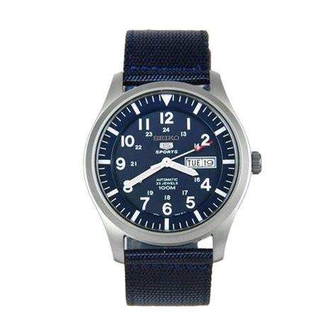 Jam Tangan 5 11 Sport jual seiko 5 automatic sports jam tangan pria snzg11k1 tali biru navy