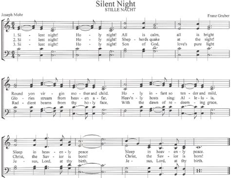 printable sheet music silent night the center for church music songs and hymns