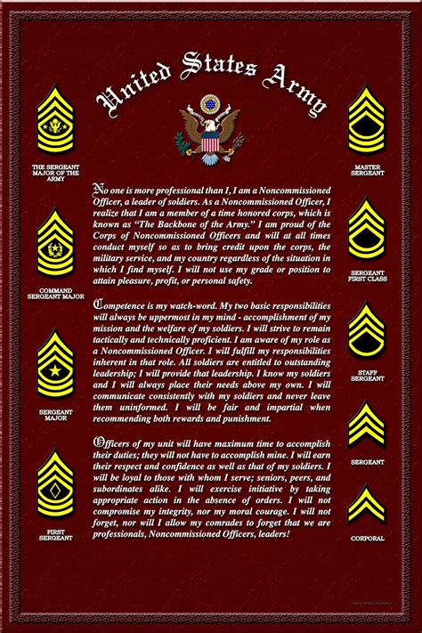What Is A Non Commissioned Officer dod army the nco creed