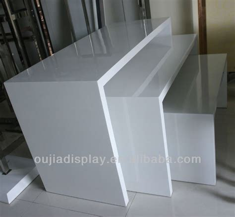 white display white clothes display table clothing store fixtures cloth