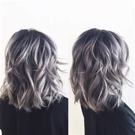 hair designs with grey streaks image result for dark hair with subtle gray highlights