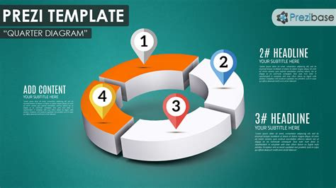 prezi business templates quarter diagram prezi template prezibase