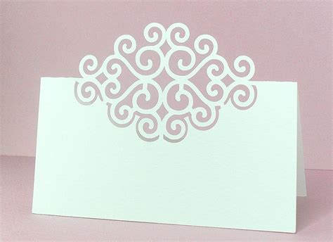 card template 4 cuts placement place cards 4 free cut file