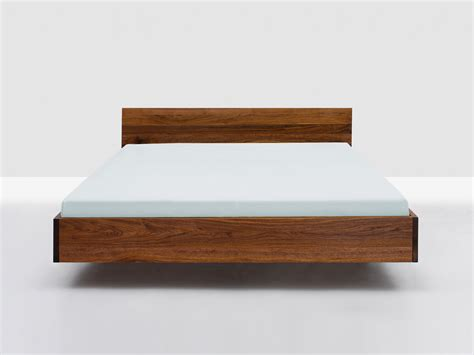 Floating bed frame with fabulous design with white color 1200x900