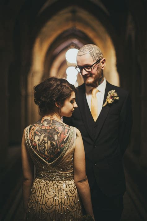 town hall tattoo intimate and cosy wedding at manchester town 183 rock n