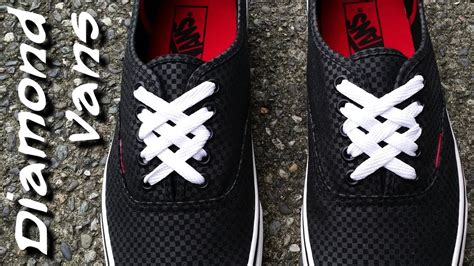 vans lace pattern how to diamond lace vans youtube