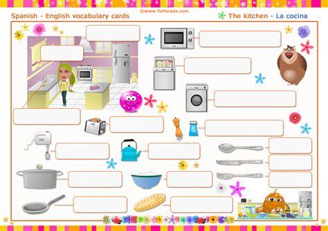 imagenes de kitchen en ingles vocabulario la cocina the kitchen imprimir