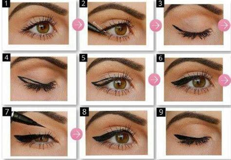 winged eyeliner tutorial liquid liner how to do winged eyeliner makeup pinterest winged