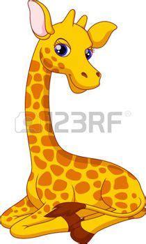 imagenes de jirafas coquetas linda jirafa de dibujos animados photo dibujos animados