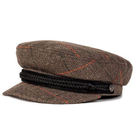 Id 1245 Studs Plaid Shirt fiddler hat by brixton grey plaid