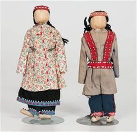 corn husk dolls nz lot 2 vintage antique american indian iroquois