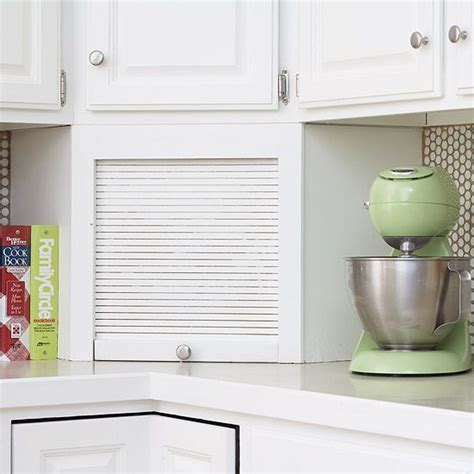Countertop Appliance Storage by Make A Small Kitchen Look Larger Appliance Garage