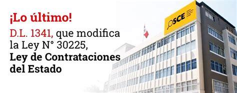 decreto legislativo n 1229 diario oficial el peruano decreto legislativo 1341 modifica la ley de contrataciones