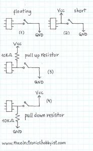 pull up resistors explained pull up resistors tinker hobby