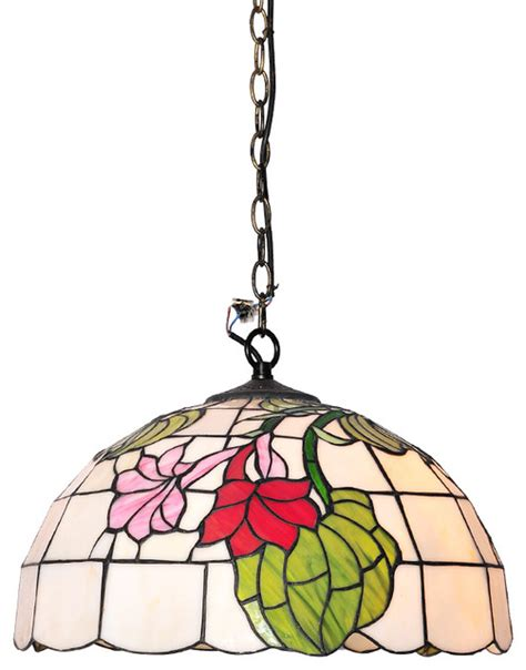 stained glass kitchen lighting tiffany style morning glory motif pendant light with