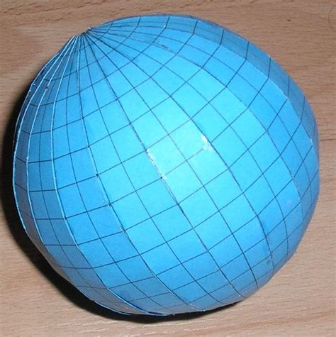 How To Make A 3d Sphere With Paper - paper globe