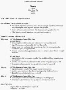 Exle Of A Combination Resume by Combination Resume Template