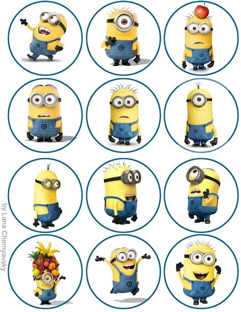 minions free printable bunting labels and toppers is minions topper for cupcakes festas pinterest circles