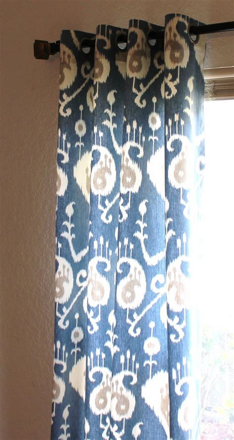 blue ikat curtain blue ikat curtains blue and white ikat curtain panel