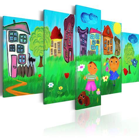 bild katze kinderzimmer leinwand bilder kunstdruck bild kinder kinderzimmer