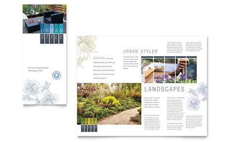 urban landscaping business card letterhead template design