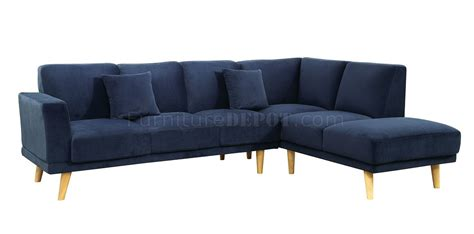 navy sectional sofa hagen sectional sofa cm6799nv in navy fabric