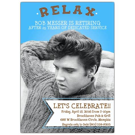Fall Themed Baby Shower Invitations by Relax Elvis Retirement Party Invitations Paperstyle