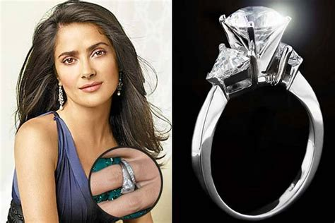 Salma Hayek Is And Engaged by Engagement Rings Miadonna