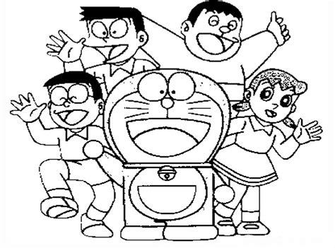 tutorial menggambar doraemon dan nobita sketsa gambar doraemon nobita dan kawan kawan untuk